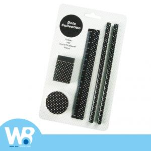 Dot Dot Stationery Set - Black