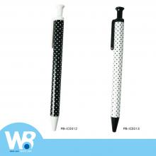 Black and white dots oily ball pen